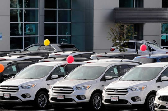 Sales of new vehicles could plunge as much as 40% this month.