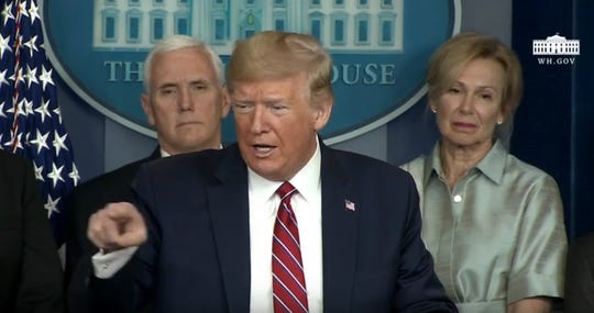 """When NBC's Peter Alexander asked what President Trump had to say to Americans who are """"scared"""" by the outbreak, Trump answered, """"I say that you're a terrible reporter. That's what I say."""""""