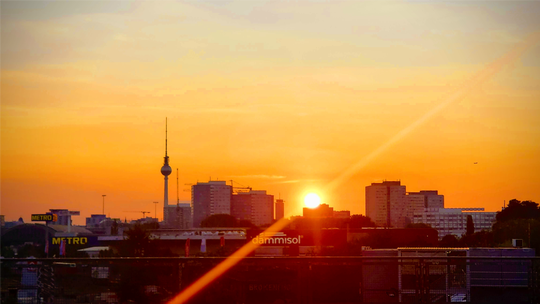 """Stepahine took this sunset in Berlin. """"The sunset remains the same at least,"""" she said."""