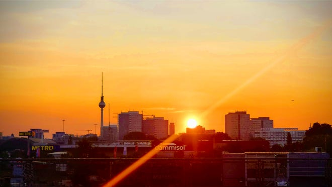 "Stepahine took this sunset in Berlin. ""The sunset remains the same at least,"" she said."