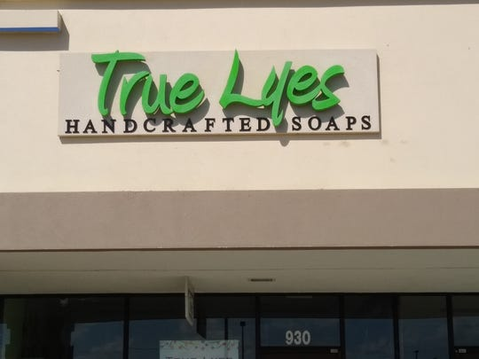 True Lyes, featuring hand-made soaps, is a signal of the more modern shops sought to fill the redeveloped Merchants Crossing.
