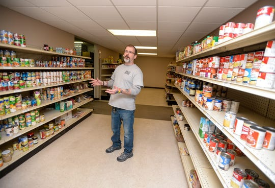 Doug Perrien, warehouse manager for the Great Falls Food Bank, talks about some of the high demand items that have run out in the last week like ready to eat chili and Progresso and Campbell's Chunky soups.  Perrien says more is on the way, but panic shopping has also made it harder to find some food items that they usually have in stock.