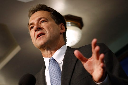 Montana Gov. Steve Bullock, shown in a 2019 photo, warned Friday that the state could face extended closures of public gathering places in the push to slow the spread of the coronavirus.