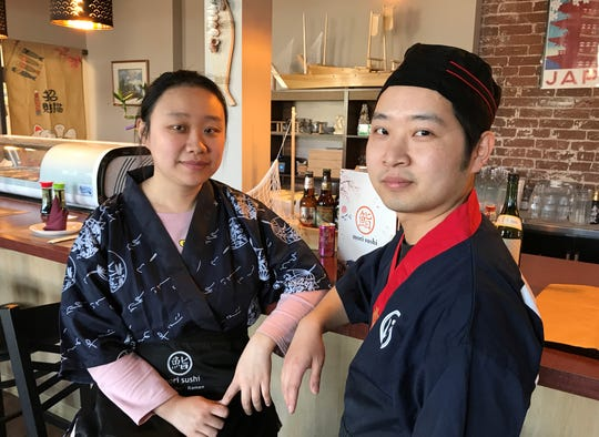 Chef Denson Yang and his wife, Nini Ye, opened Mori Sushi, 231 S. College Ave., on March 16, 2020, the day Indiana's governor shuttered dine-in service at bars and restaurants. Mori Sushi is in the Fletcher Place area of Indianapolis.