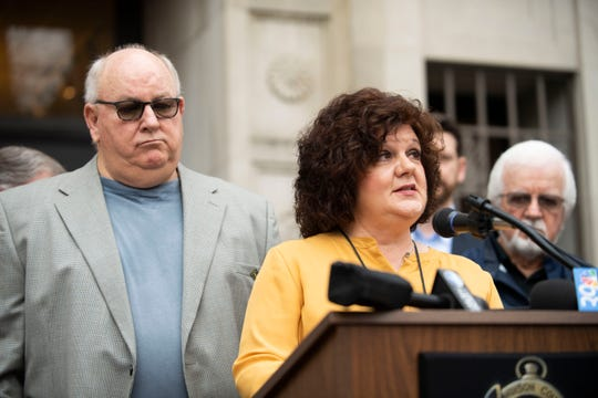 Jackson-Madison County Regional Health Department Director Kim Tedford speaks at the press conference, Mayor Jimmy Harris held, at Madison County Court House, Friday, March 20, 2020 in Jackson, Tenn. to declare a local state of emergency due to the coronavirus. (Photo: Stephanie Amador / The Jackson Sun)