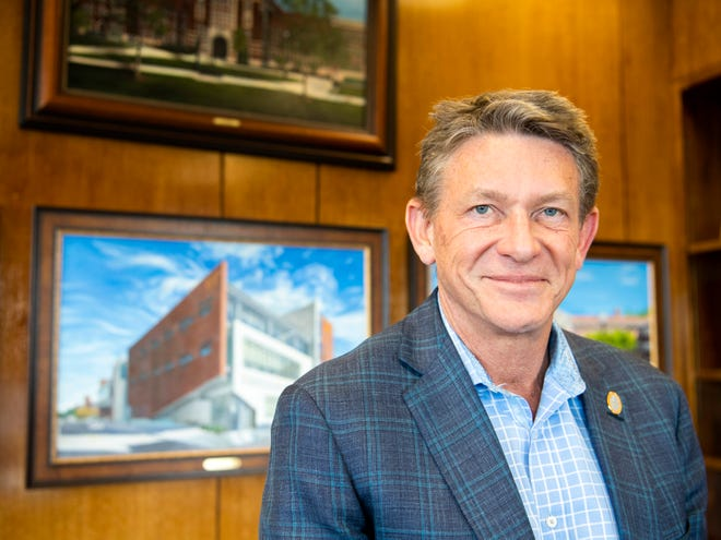 Randy Boyd, photographed in his campus office Tuesday, March 3, 2020, at the University of Tennessee, shortly before officially being named president.