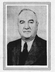 This photo of Christopher F. Kirn, Jr. appeared in the Eagle-Gazette on Dec. 17, 1942. He was president of the Farmers & Citizens Bank that was celebrating its 50th anniversary (1892-1942).