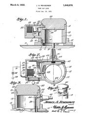 This information appeared in the corner of the blueprint for James A. Reasoner's invention of a brake shoe. He received the patent January 31, 1933.