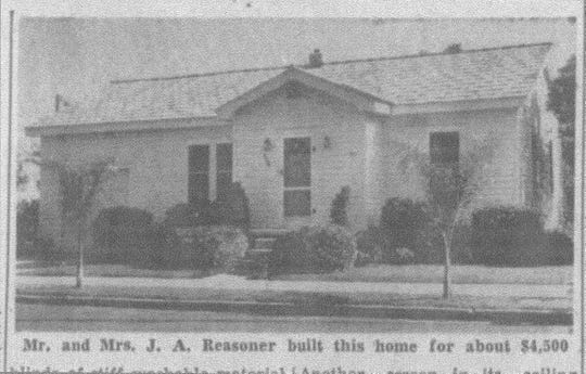 This photo of the house Mr. & Mrs. Reasoner built for themselves in Florida appeared in the Tampa Bay Times (31 March 1946). They built it for about $4500.