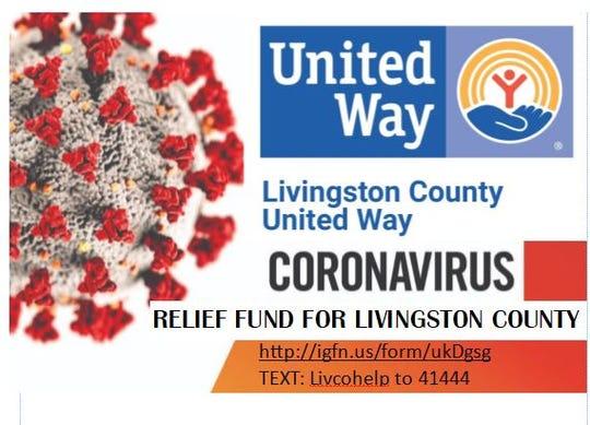 Livingston County United Way has set up a Coronavirus Relief Fund.