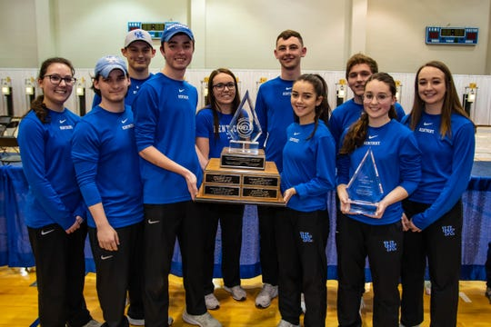 Members of the Kentucky rifle team pose with the Great American Rifle Championship trophy.