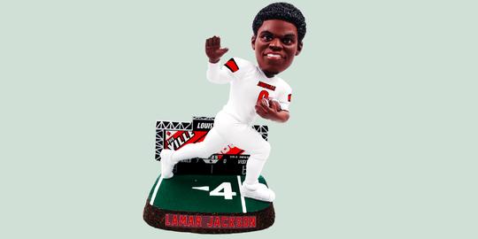 Lamar Jackson Heisman Trophy bobblehead