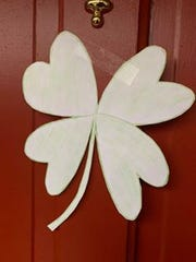 """In Plainview, people are putting shamrocks in their windows so children can go on """"shamrock walks."""""""