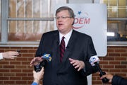 Mayor Jim Strickland holds a press conference Friday morning to update the public on the effects of COVID-19 in Memphis, as well as the city's response, Friday, Mar. 20, 2020, in Memphis, Tenn.
