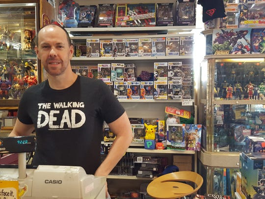 Rob Duncan, owner of Capitol City Comic Shop on Vaughn Road, is offering curbside service and delivery.