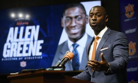 Auburn Athletics director Allen Greene.