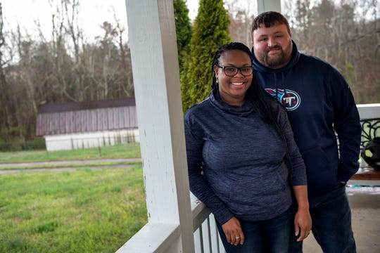 Joe Levickis and Danyelle Valentine at their home in Joelton on Thursday, March 19, 2020. Levickis and Valentine were forced to cancel their upcoming wedding due to concerns about the coronavirus, but hope to reschedule their wedding for the same venue in New Orleans this December.