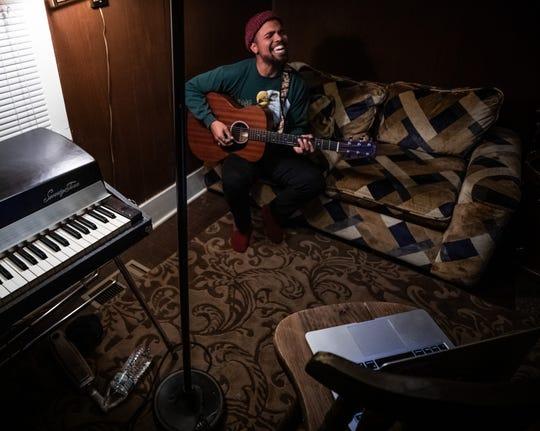 Devon Gilfillian performs live via a laptop as part of the Luck Reunion 'Til Further Notice' virtual concert Thursday, March 19, 2020.