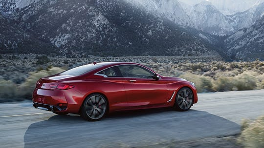 The 2020 Infiniti Q60 Red Sport's force surges from a 400-horsepower, 3.0-liter V6 engine with twin turbochargers that delivers 350 pound-feet of torque.