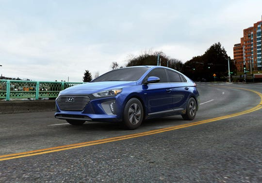 On the road, the 2020 Hyundai Ioniq Limited hybrid four-door hatchback sedan delivered a taut feel with well-weighted steering and a quiet interior with little wind noise.
