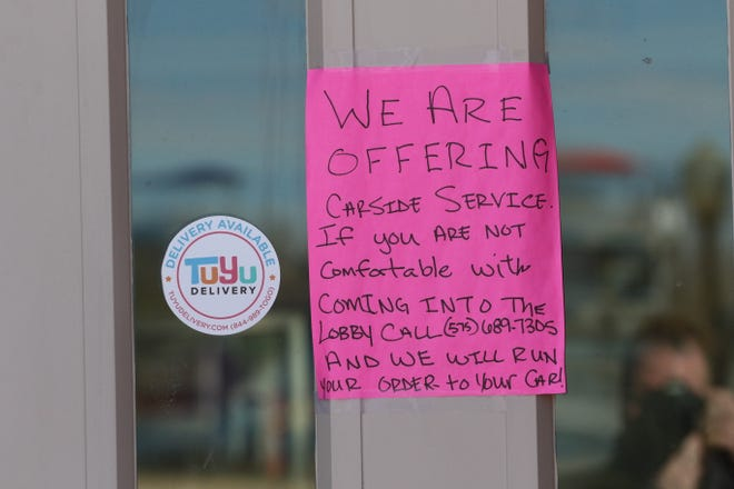PJ and B's Rio Cafe offered take out and curbside food service as local restaurants closed in response to the coronavirus pandemic, March 20, 2020 in Carlsbad.