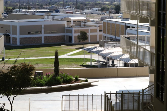 Carlsbad High School is empty on a Friday morning amid local school closures in response to the coronavirus pandemic, March 20, 2020 at Carlsbad High School.