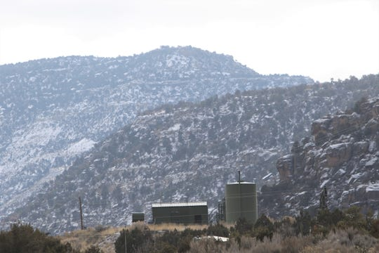 A well site is pictured in January in the Navajo Dam area.