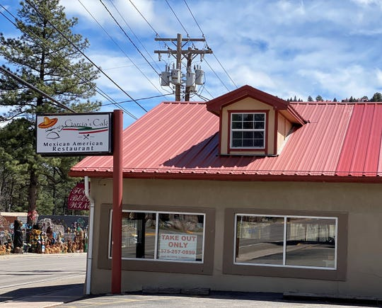 Take out signs posted on restaurant doors and windows throughout Ruidoso mark the recent statewide mandated closures of public places.