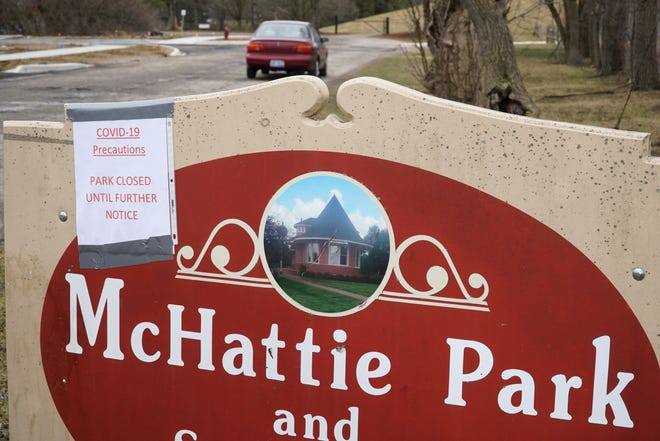 South Lyon's McHattie Park is closed to visitors due to the coronavirus.
