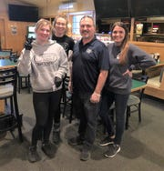 Crow's Nest owner Dominic Tassielli is pictured with (from left) staff members Georgia, Kristyn and Becky.