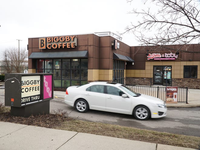 Cars were still pulling into South Lyon's Biggby Coffee on March 20, 2020. The store announced via Facebook it would close after serving coffee for 11 years.
