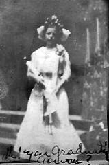 Ophelia Pitre on graduation day in 1907.
