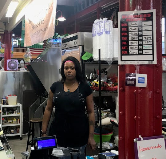 Dee Sanders is the owner of Diva's Have to Eat in the Lebanon Farmer's Market. Small business owners need all the support they can get right now, Sanders said.