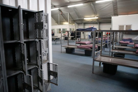 Inside the PODS at the Dutchess County Jail in the City of Poughkeepsie on March 20, 2020. The PODS have been made available as a temporary homeless shelter through the cooperation of Dutchess County Government and the Dutchess County Sheriff's Department.