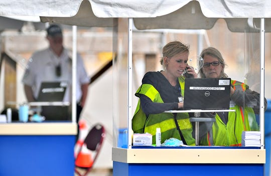 WellSpan's second drive-thru coronavirus testing site in York County is open at the York Expo Center, Friday, March 20, 2020. Dawn J. Sagert photo