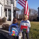 In video courtesy of Jeff Paukovitch via Storyful, his two young daughters recite The Pledge of Allegiance from home.