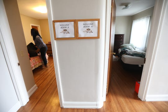The Bethany House, a shelter for women and women and children, is temporarily closing soon because  their volunteer workers were told to go home to help limit spread of COVID-19.  Laveeda Collins, packs up her room on Friday, March 20, 2020, the woman in the neighboring room already packed up.