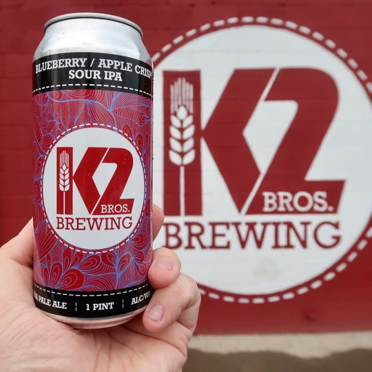 K2 Brothers Blueberry/Apple Crisp Sour IPA is one of the brewery's new releases and is available in four-packs.