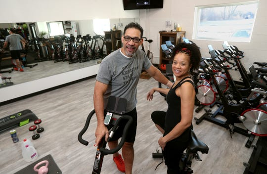 Fitness professionals Eke and Claudette Aiono, offer exercise options during a possible quarantine.