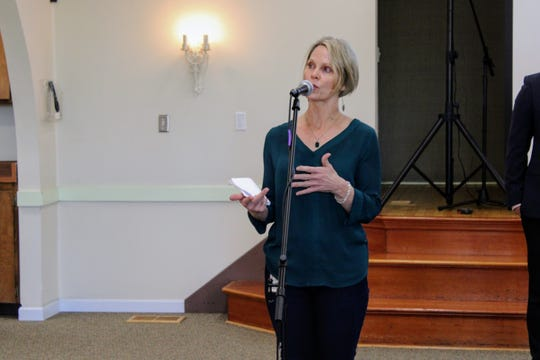 Dr. Karen Ramstrom, health officer for Shasta County Health and Human Services Agency, answers a question during a COVID-19 press conference held by the agency on Friday, March 20, 2020.