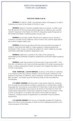 Information about the executive order.