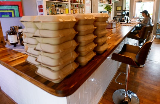 Take out meals at Fat Calf Brasserie.