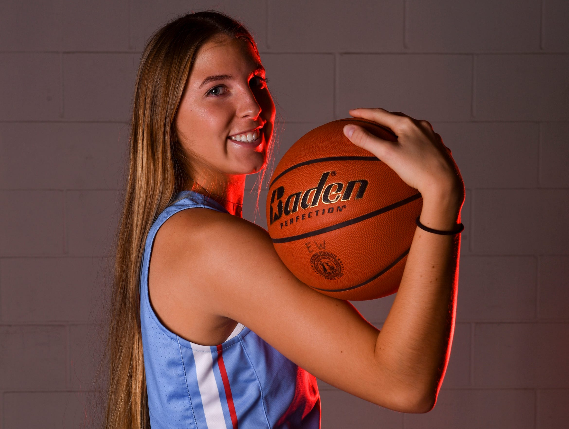 Lincoln's Morgan Hansen (10) poses for a portrait during basketball media day on Saturday, Dec. 7, 2019 at the Argus Leader.