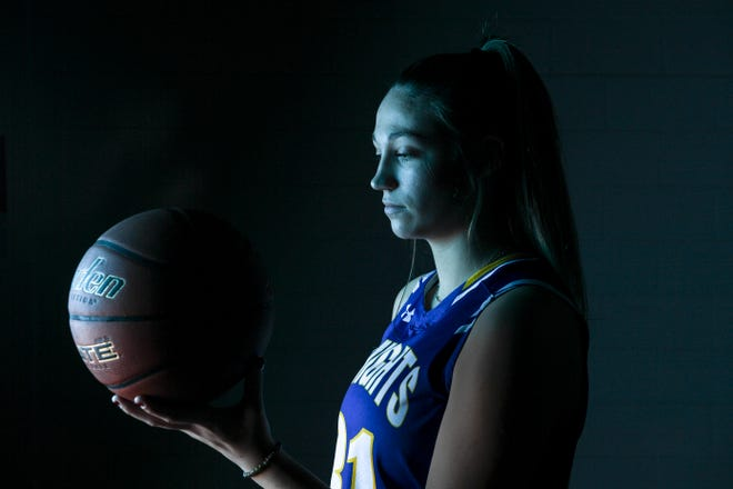O'Gorman's Emma Ronsiek (31) poses for a portrait during basketball media day on Saturday, Dec. 7, 2019 at the Argus Leader.