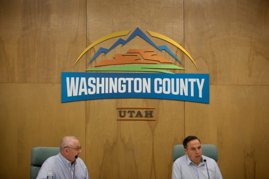 The Washington County Commission holds an emergency session to declare a local state of emergency Friday, March 20, 2020.
