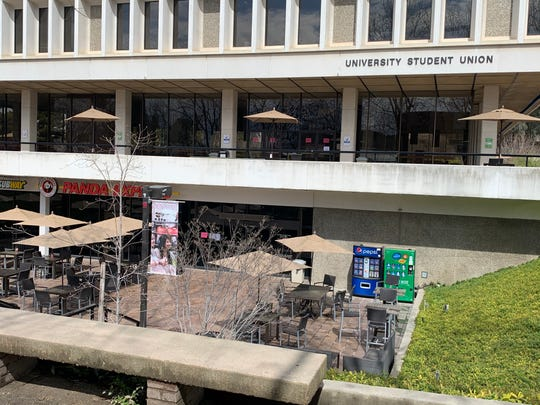 The Student Union on Fresno State's campus was silent on Thursday, the city's first day of its shelter in place order.