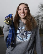 Horace Greeley's Sam Burton is our girls Westchester/Putnam skier of the year March 20, 2020.