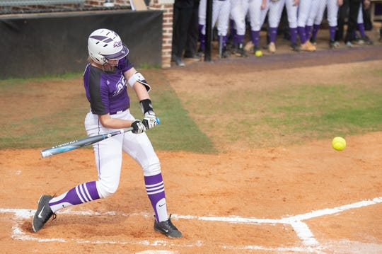 ACU's Blair Clayton prepares to swing at a pitch this season. The senior likely saw the end of her college softball career come to an end, thanks to the coronavirus. Even if the NCAA grants spring sports athletes like Clayton an extra year of eligibility, she had already made plans to further her physical therapy studies elsewhere.