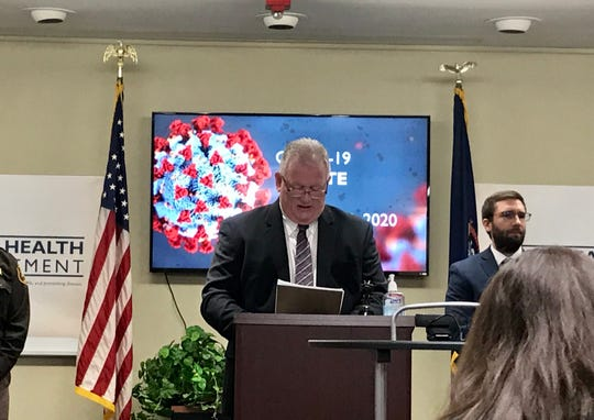 Calhoun County announced its first positive case of COVID-19 at a press conference on March 21, 2020.