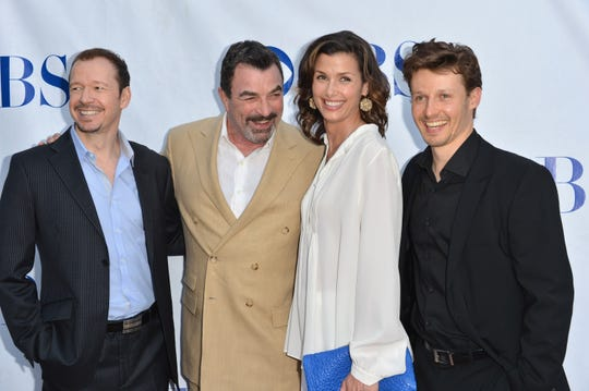 "Actors Donnie Wahlberg, Tom Selleck, Bridget Moynahan and Will Estes arrive to a screening and panel discussion of CBS's ""Blue Bloods."""
